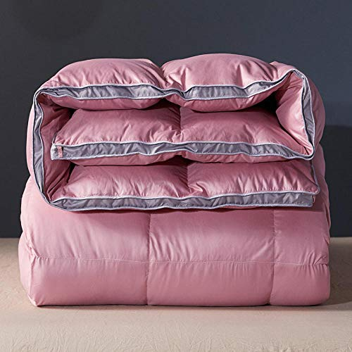 CHOU DAN Winter Duvet Double,Duvet 95 White Goose Down Winter Quilt Thickened Winter Spring And Autumn Quilt Double Single Student Dormitory Quilt White Duck Down-Bean Paste_150x200 4 Kg
