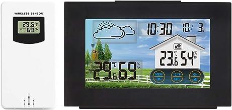 Termómetro Higrómetro Estación meteorológica Pantalla táctil Inalámbrico Inalámbrico Interior Temperatura Humedad Medidor de alarma digital Herramientas de sensor Digital Termohigrómetro