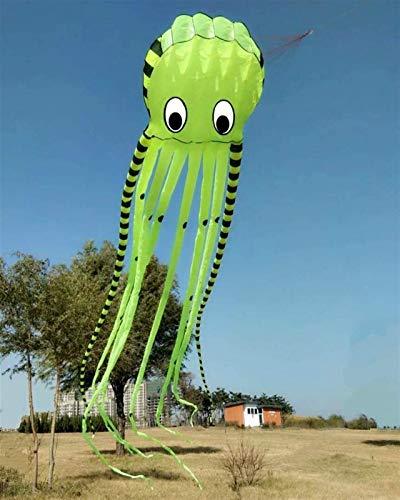 Decor Sky Visitor 3D 26ft Ultra groß und lustig Octopus Foliendrachen mit Griff und Linie, Strandpark im Freien Spaß (gelb)