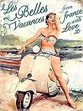 Vespa Motorcycle Blechschilder Vintage Metall Poster Retro