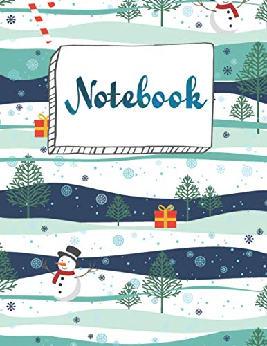 Notebook: Christmas Blank Lined Journal College Ruled Composition Notebook For for Office Home School Business Writing & Note Taking Writing or Journaling