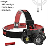 HSZH Headlight 1*xpe+2*cob Led Headlamp Telescopic Zoom Function Waterproof Headlight Usb Charging Headlight