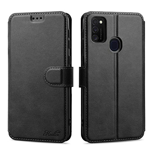 Keallce für Samsung Galaxy M21/M30S Hülle, Handy Lederhülle PU Leder Hülle Brieftasche Handytasche Cover Kompatibel für Samsung Galaxy M21/M30S Ledertasche-6.4