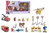 Dickie Toys 203096005 Feuerwehrmann Sam Theme Set Spielset, mehrteilig, Mehrfarbig -