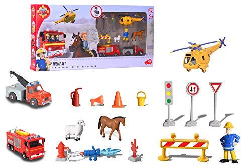 Dickie Toys 203096005 Feuerwehrmann Sam Theme Set Spielset, mehrteilig, Mehrfarbig