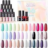 Gellen 36 Colors Gel Nail Polish Kit - With Top&Base...
