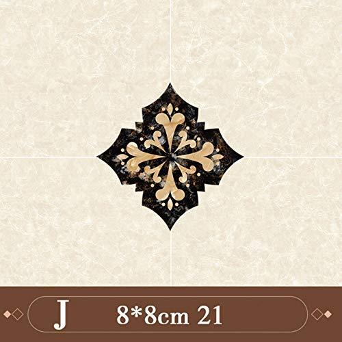 QWERTYU 21 stks/partij Zelfklevende Keramische tegels stickers Waterdichte Muursticker Art Diagonale Vloer Stickers keuken huis decoratie LIJIANME