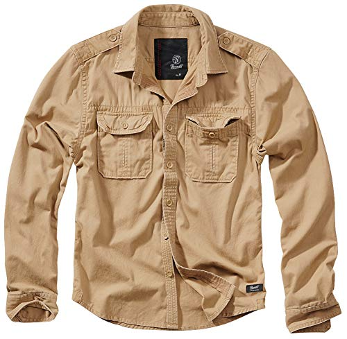 Brandit Vintage Shirt Longsleeve Camel XL