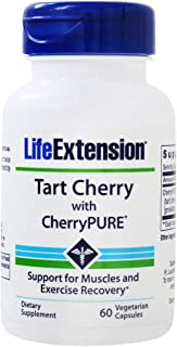 Life Extension Tart Cherry with CherryPURE Promotes Rapid Muscle Recovery After Exercise 60 Vegetarian Capsules
