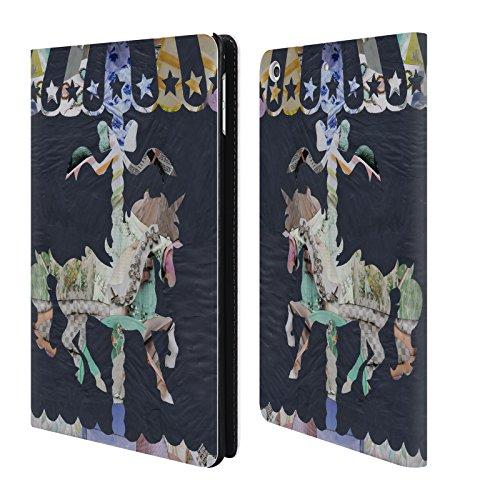 Head Case Designs Offizielle Artpoptart Karussel Collage Leder Brieftaschen Huelle kompatibel mit iPad Mini 4