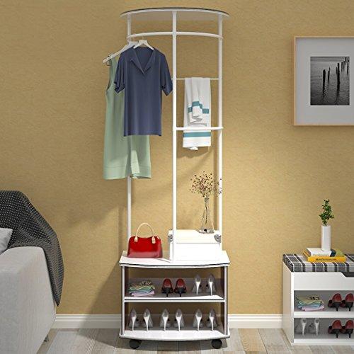 Dongyd Fashion Creative - Perchero multifuncional para dormitorio (color: blanco)