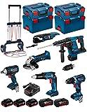 BOSCH Kit RSL3618P3LE (GBH 36 VF-LI Plus + GWS 18 V-LI + GSR 18V-60C + GSR 18 V-EC TE + GDS 18 V-EC 250 + GOP 18V-28 + Caddy)