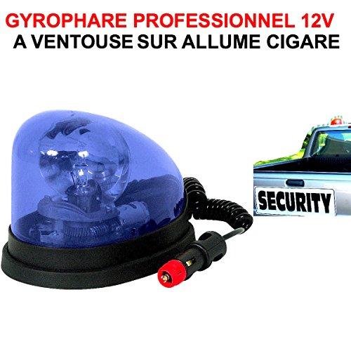 Tres Compact ET Puissant! GYROPHARE 12V Bleu A Ventouse sur Allume-Cigare ! Special 4X4 DEPANNEURS PATROUILLEURS Voiture 00 Assistance
