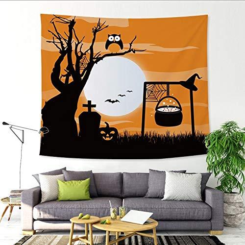 nobranded Halloween Kürbis verfolgt Wandteppich Wandteppich hängen Malerei Tischdecke hängen Stoff Hintergrund Stoff Dekoration