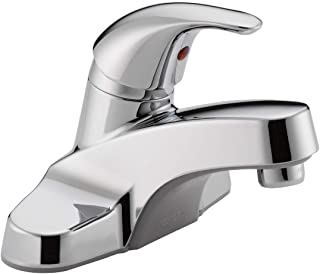 Peerless Centerset Bathroom Faucet Chrome, Bathroom Sink Faucet, Single Handle, Chrome P131LF