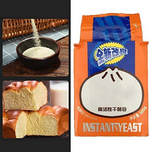DENGHENG 500 g Brothefe hochaktive Trockenhefe Low Sugar Küche Backzubehör Brot Hefe aktiv sofort trockene Hefe