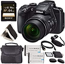 Nikon COOLPIX B700 Digital Camera 26510 + Rechargable Li-Ion Battery + Sony 64GB SDXC Memory Card + Soft Carrying Case + Pro Hand Camera Grip + HDMI Cable + Card Reader + Memory Card Wallet Bundle