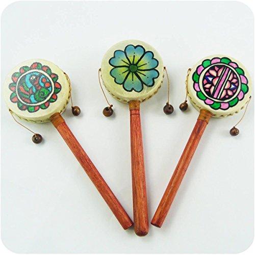 Schütteltrommel Handtrommel Meditation Drehtrommel Trommel Rhythmus Klang Instrument (Klein)
