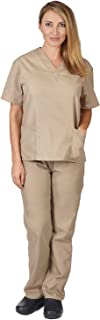 Natural Uniforms Women's Scrub Set Medical Scrub Tops and Pants
