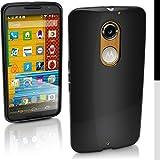 iGadgitz Solid Black Glossy TPU Gel Skin Case Cover for Motorola Moto X 2nd Generation 2014 XT1092 + Screen Protector