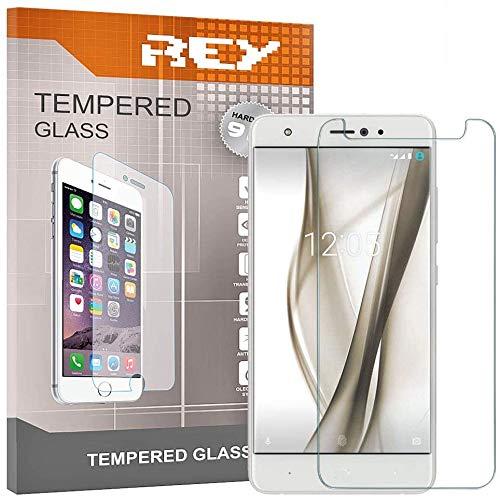 REY 3X Protector de Pantalla para BQ AQUARIS X/X Pro, Cristal Vidrio Templado Premium