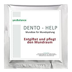 Dentohelp Mundtee - antibakterielle Mundspülung. Die Inhaltsstoffe wirken heilend bei Parodontitis, Zahnfleischentzündung und anderen Druckstellen im Mund. Rein Pflanzlich, ohne Alkohol.
