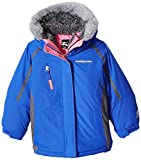 ZeroXposur Big Girls' 3 in 1 Jacket with Attached Hood and Adjustable Cuffs Winter Ski Coat, Larkspur, 7-8 Years