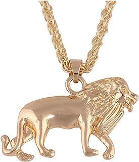 قلادة MIXIA أنيقة عصرية ذكر سبائك الذهب اللون الأسد قلادة للرجال الأولاد أزياء الحيوانات سحر قلادة المجوهرات