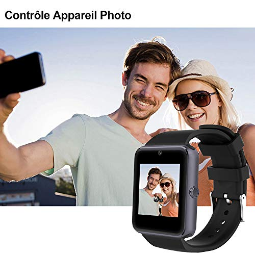 Willful Montre Connectée Homme Montre Telephone avec SIM pour Huawei Samsung Android Smartwatch...