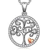 ANGEL NINA Collane in argento per donna Albero della vita Collane per donna Regalo Albero della vita Ciondolo Collana Regalo per lei