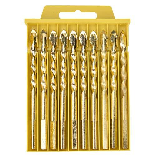 La mano de la broca ranurada equipa las brocas efectivas de la alta dureza para el vidrio para perforar(Pack of 10 8mm)