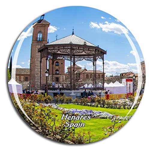 Weekino España Palacio Arzobispal Alcalá de Henares Imán de Nevera 3D de Cristal de la Ciudad de Viaje Recuerdo Colección de Regalo Fuerte Etiqueta Engomada refrigerador