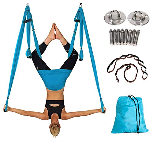 Générique Aerial Yoga Swing Parachute Aerial Yoga Hamac Volant Antigravité Yoga Inversion Fitness Balançoire De Yoga en pour Le Yoga Anti-Gravité, Exercices D'inversion,F