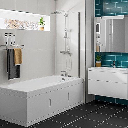 Badewanne 167,5x76,5cm SYLVI mit Einbauschrank und Duschkabine, Rechts