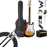 Donner DST-102S Electric Guitar Beginner Kit + 10 ft Guitar Cable