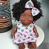 VWsiouev - Muñecas negras para niños, muñecas de juego africanas de 10 pulgadas, ideal como...