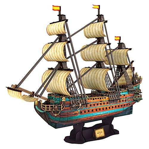 small size CubicFun San Felipe Ship Model Kit 25.6 ″ 3D Puzzle for Adults and Adolescents Stress Relief Hobbies Cool Decoration 248 Birthday Gifts for Men