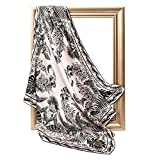INAINI 100% Pure Mulberry Real Silk Scarf for Women 35' Head Scarf Square 16 momme