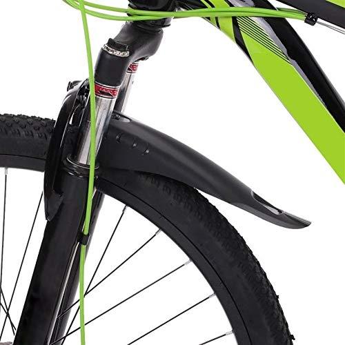 Garde-Boue de Pneu de vélo, Arrière Avant vélo Fender Set VTT VTT Vélo de Route Fender Wings for Cycle Accessory pour vélos VTT, vélos de Route, vélos (Color : Black)