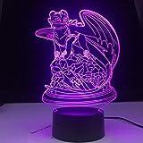 Cómo entrenar a tu dragón lámpara lámpara de dragón sin dientes lámpara de mesa lámpara de noche para el hogar florero mesa de comedor decoración de fiesta