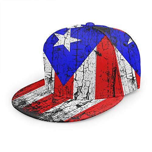 Vintage Puerto Rico Flag Unisex 3D Printing Classic Baseball Cap Snapback Flat Bill Hip Hop Hats