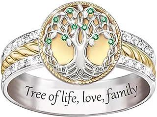 Sunflower Ring, Tree of Life Ring Fashionable Two-Color for Women Men, Boho Floral Ring, Sunflower Rings for Women, Sterli...