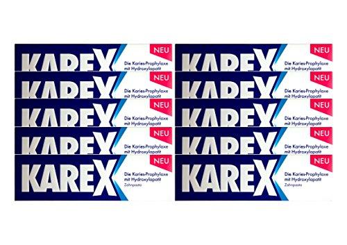 10x KAREX Zahnpasta 75ml PZN: 12607977 Zahncreme