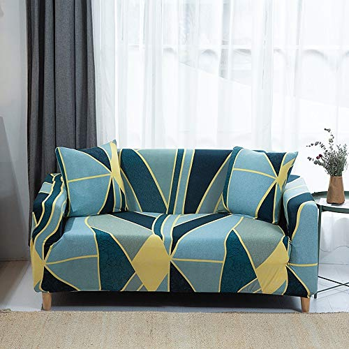 Fundas de sofá elásticas con Estampado Floral para Sala de Estar, Toalla de sofá, Funda de sofá Antideslizante, Funda de sofá elástica A14, 4 plazas