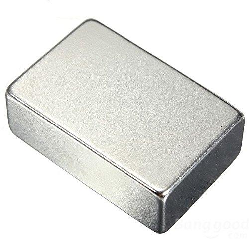 Magnetastico | Ultrastarker Neodym Magnet Rechteck 40x20x10 mm N52 NiCuNi Silber | High-Performance Block-Magnet N52 | Neodymium Permanentmagnet Dauermagnet Supermagnet Haftmagnet Rechteckmagnet
