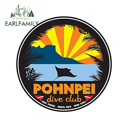 A/X 13cm 12 9 cm para Pohnpei Surf Club de Coche a Prueba de arañazos Etiqueta Fina Impermeable a Prueba de arañazos para la decoración de Van ATV-Style_A