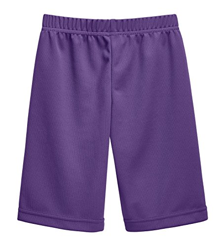 City Threads Athletic Shorts for Boys and Girls Sports Camps School Running Basketball Shorts Perfect for Sensitive Skin on SPD Clothing, Purple, 4T