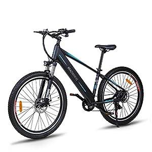 """Macwheel Wrangler-600 27,5"""" Bici Elettrica da Montagna, 48V/10Ah Rimovibile Batteria agli Loni di Litio, Shimano 7 velocità, Sospensione Anteriore, Tektro Freni a Disco, Biciclette Pedalata Assistita"""