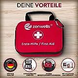 Erste Hilfe Set Wandern, Outdoor, Fahrrad & Reise Zubehör für die Erstversorgung der häufigsten Notfälle nach DIN 13167 - First Aid Kit für Ihre Sicherheit - 7