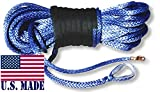 BILLET4X4 U.S. Made AMSTEEL Blue Winch Rope 5/16 inch x 100 ft Blue (13,700lb Strength) (4X4 Vehicle Recovery)